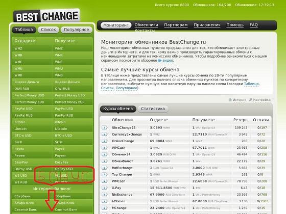 BestChange.ru – это бесплатный онлайн-сервис для поиска пунктов обмена электронных денег